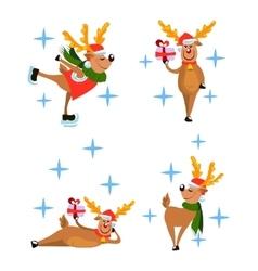 set of deers vector image vector image