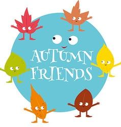 autumn friends vector image vector image