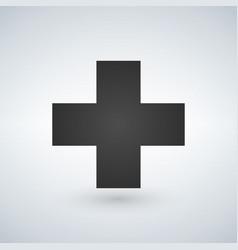cross medicical or christian logo concept vector image