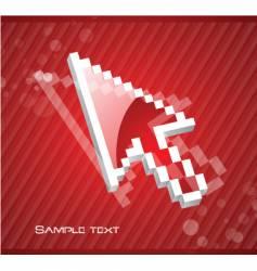digital cursor vector image