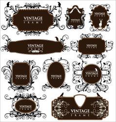 Empty vintage labels vector image vector image