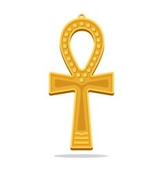 Golden Ankh Egyptian Cross Life Giving Object vector image