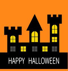 Happy halloween haunted house dark black castle vector