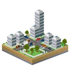 Isometric city vector