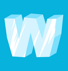 letter w ice font icicles alphabet freeze vector image vector image