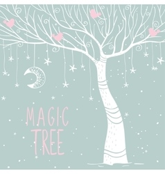 magic tree night vector image