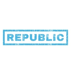 Republic Rubber Stamp vector image vector image