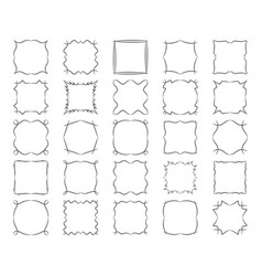 twisted square calligraphic frames set abstract vector image