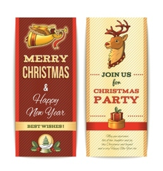 Christmas banner vertical vector image vector image