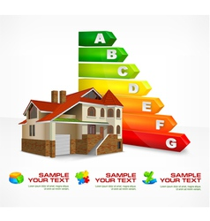 house energy rating 10 v vector image