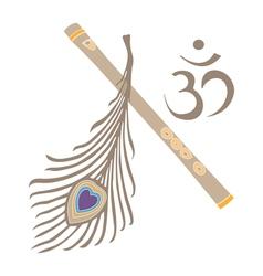 indian God symbol vector image vector image