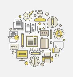 marketing and copywriting vector image