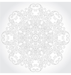 Ornamental round lace floral pattern vector image