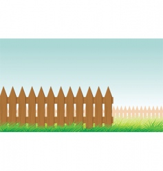 picket fence vector image