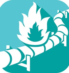 Pipe Line Icon vector image vector image