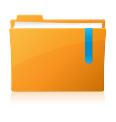 Pixel perfect folder icon vector image