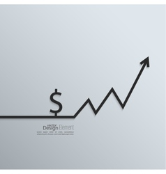 Ribbon a dollar sign and exchange the curve arrow vector image vector image