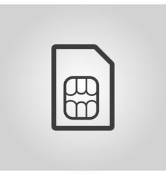 The sim card icon Sim Card symbol Flat vector image