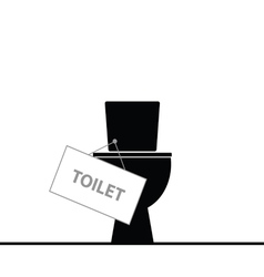 Toilet black vector