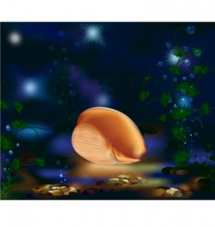 underwater world seashell and plants vector image vector image