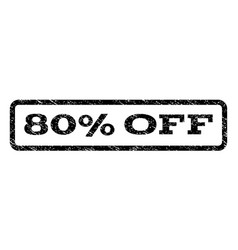 80 percent off watermark stamp vector image