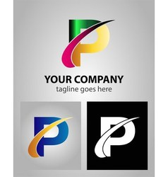 Abstract icon logo for letter P vector
