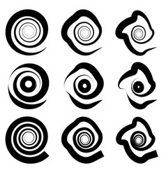 Abstract spiral elements abstract unique swirl vector