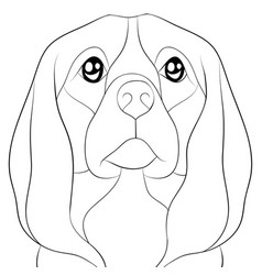 adult coloring bookpage a cute dog image for vector image