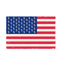 american flag with dollar signs vector image