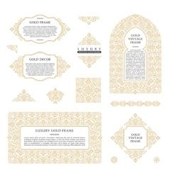 Arabic set of frames lines art design vector image