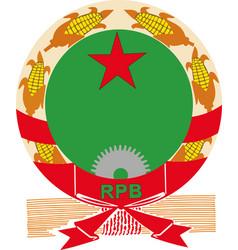 benin national army emblem vector image