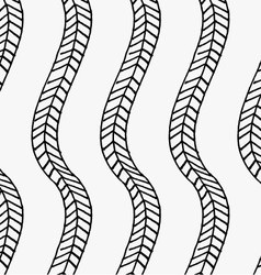 Black marker vertical braids vector