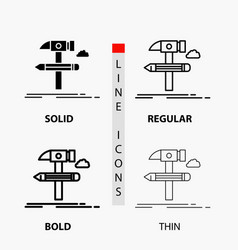 build design develop tool tools icon in thin vector image