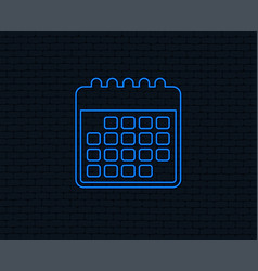 calendar icon event reminder symbol vector image
