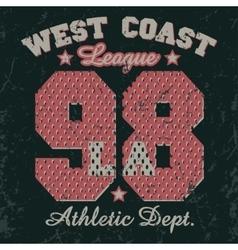 california t-shirt graphics vector image