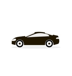 Car White Black Icon vector image