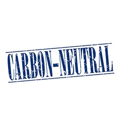 Carbon-neutral blue grunge vintage stamp isolated vector
