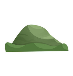 Cartoon green hill isolated on white background vector