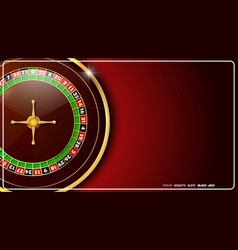 Casino roulette wheel isolated on red background vector