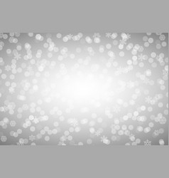 christmas silver shiny background with snowflakes vector image