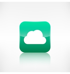 Cloud icon application button vector