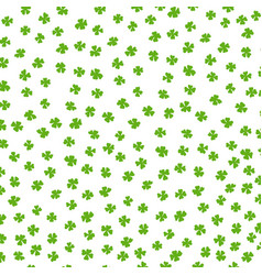 clover leaf irish luck colored background vector image