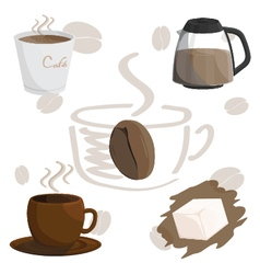 coffee cafe cup brown vector image