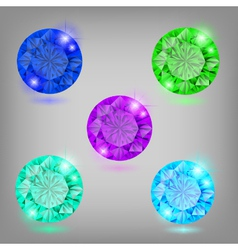 Collection of diamonds vector