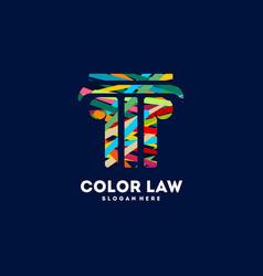 Colorful pillar logo designs concept color law vector