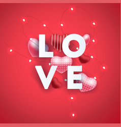 composition with love inscription lettres and vector image