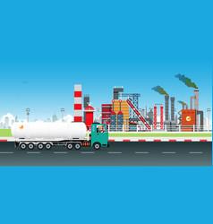 dangerous chemical truck vector image