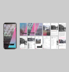 design of mobile app ui ux gui set of user vector image