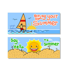enjoy your summer banner set vector image