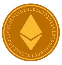 Ethereum digital coin vector
